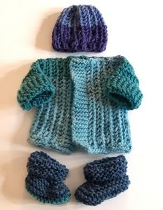 Handmade Knit Newborn Set